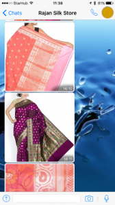 Shopping sarees on whatsapp