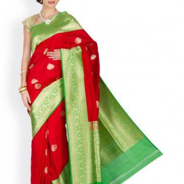 Red Silk Banarasi Sari