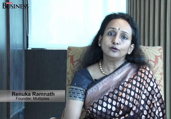 Renuka Rammath founder Multiples Private Equity in Banarasi Sari