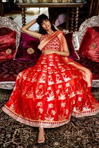 Banarasi lehenga from Anita Dongre's Benaras collection. Contact us for bridal lehengas.