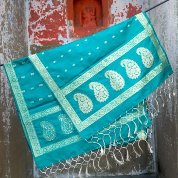 Banarasi stole with a touch of Royalty
