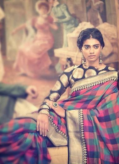 Manish Malhotra Check Banarasi Sari