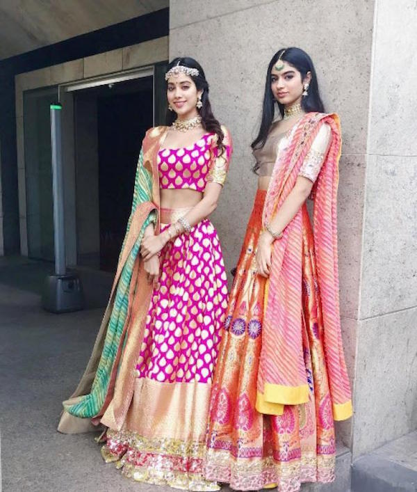 Jhanavi and Khusi Kapoor at a wedding